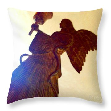 Throw Pillow featuring the photograph Angel Statue by Rose Wang
