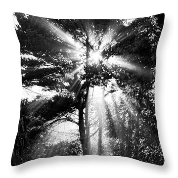 Angel Sun Throw Pillow