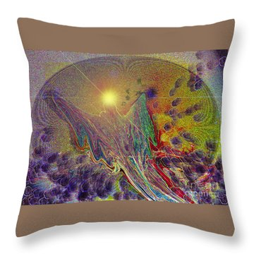 Angel Taking Flight Throw Pillow