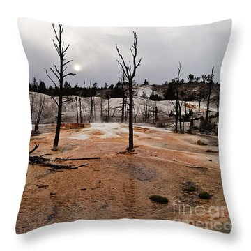 Angel Terrace Sunset Throw Pillow by Sue Smith