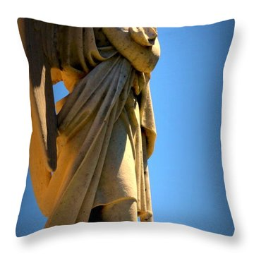 Angel Watching Throw Pillow