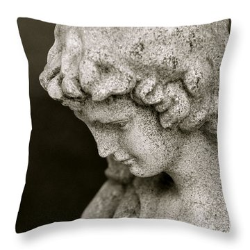 Angel Watching Over Us Throw Pillow