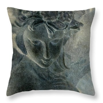 Angel Throw Pillow by WB Johnston
