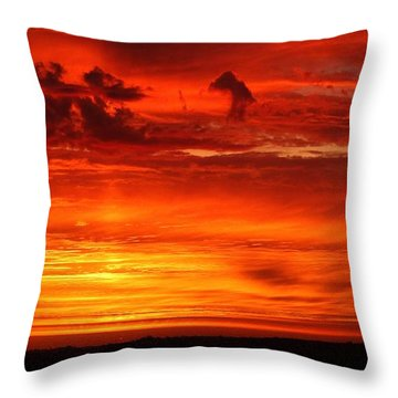 Angel Wing Sunrise Throw Pillow