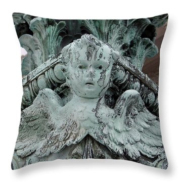 Throw Pillow featuring the photograph Angel Wings by Ed Weidman