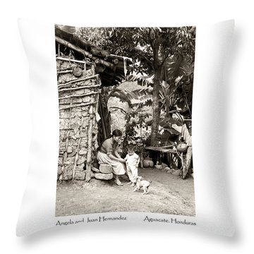Throw Pillow featuring the photograph Angela And Juan Hernandez by Tina Manley