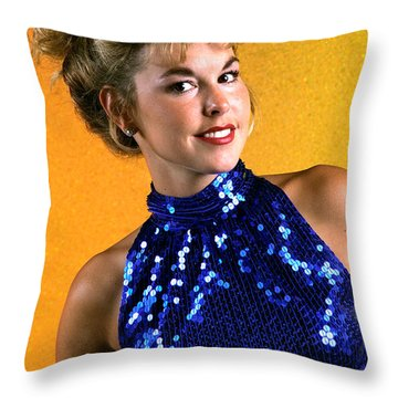 Angela Blue Formal Throw Pillow by Gary Gingrich Galleries