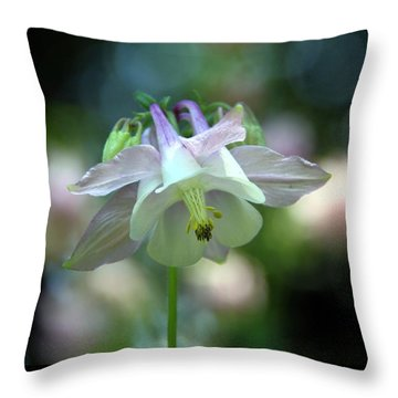 Angelic Aquilegia Throw Pillow by  Andrea Lazar