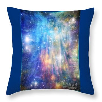 Angelic Being Throw Pillow by Leanne Seymour