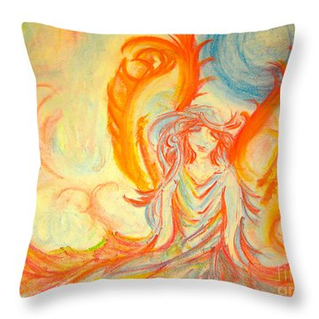 A Rainbow Of Thought Throw Pillow