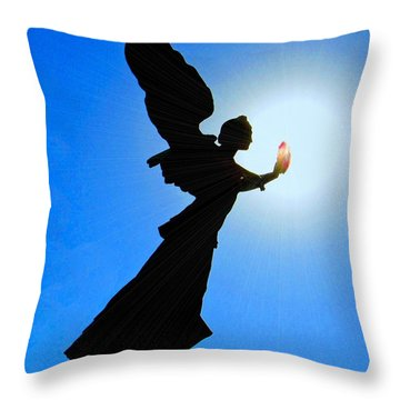 Throw Pillow featuring the photograph Angelic by Patrick Witz