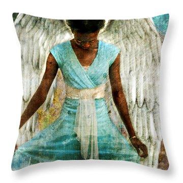 Angelic Thanks Throw Pillow