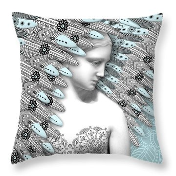 Angelica Hiberna - Angel Of Winter Throw Pillow