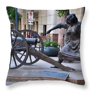 Angelina Eberly Of Austin Throw Pillow