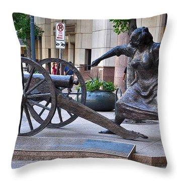 Angelina Eberly Of Austin Throw Pillow