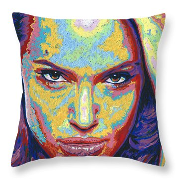 Angelina Throw Pillow by Maria Arango