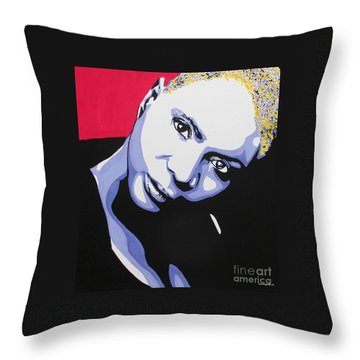 Angelique Kidjo Throw Pillow