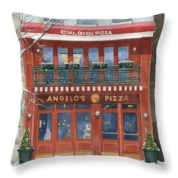 Angelo's On 57th Street Throw Pillow by Rhonda Leonard