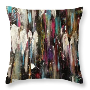 Angels Among Us Throw Pillow by Kelly Turner