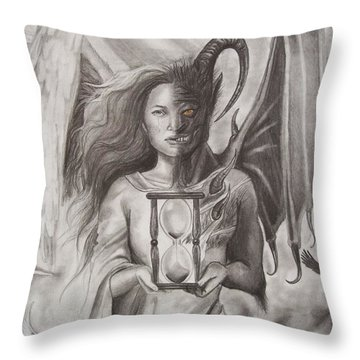 Angels And Demons Throw Pillow by Amber Stanford