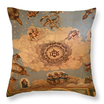 Angels And Saints Throw Pillow by Art Block Collections