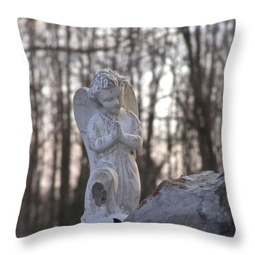 Angels Are Everywhere Throw Pillow