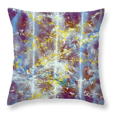 Angels At The Throne Of God Throw Pillow