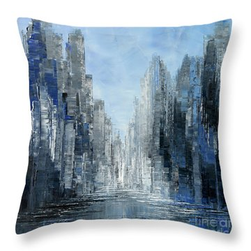 Angels At Twilight Throw Pillow