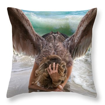 Angels- Be A Light To Those In Darkness Throw Pillow