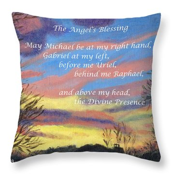 Angel's Blessing Throw Pillow