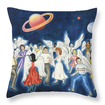 Angels Dancing Throw Pillow by Linda Mears