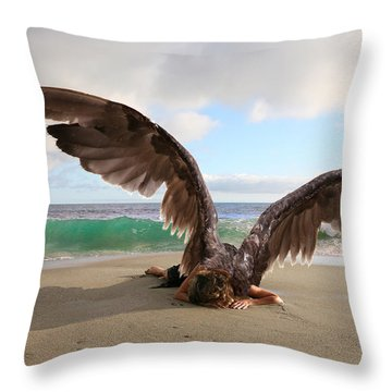 Angels- For The Lord Himself Will Descend From Heaven With A Shout Throw Pillow