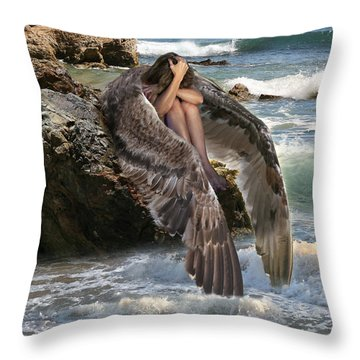 Angels- God Has Sent His Spirit To Comfort You And Heal You Throw Pillow