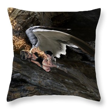 Angels- He Will Bring Peace To Your Heart Throw Pillow