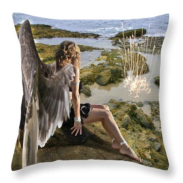 Angels- His Spirit Will Comfort You Throw Pillow