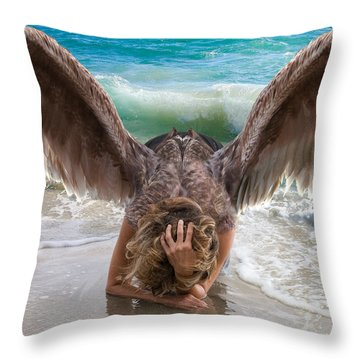Angels- I Will Not Give Up On You Throw Pillow