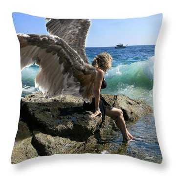 Angels- I'm Watching Over You Throw Pillow