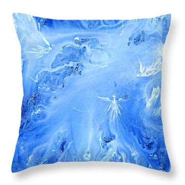 Angels In The Sky Iv Throw Pillow