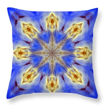 Angels In The Sky Mandala Throw Pillow
