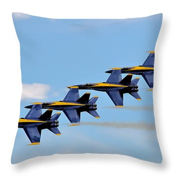 Angels Of The Sky Throw Pillow