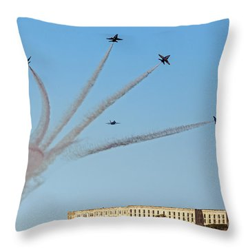 Angels Over Alcatraz Throw Pillow