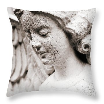 Angels Prayers And Miracles Throw Pillow
