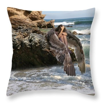 Angels- Shhh Stand Still And Be Quiet Throw Pillow