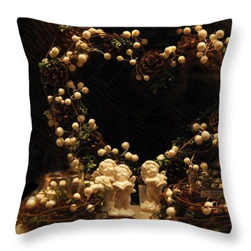 Angels Singing  Throw Pillow by Gina Dsgn