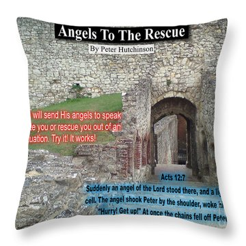 Angels To The Rescue Throw Pillow