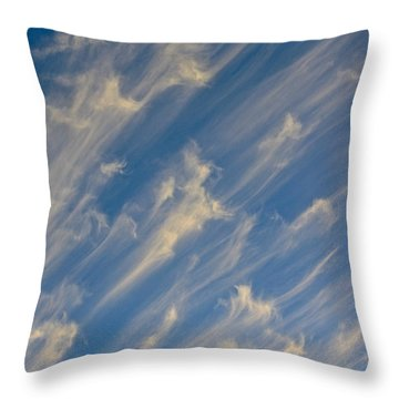 Angels Trumpets Throw Pillow