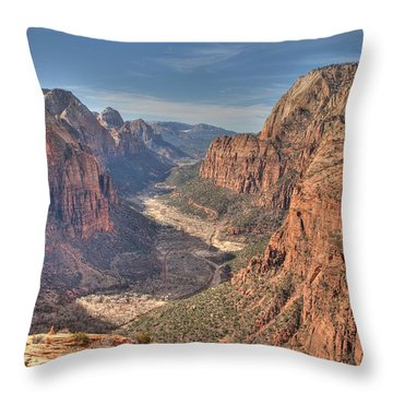 Throw Pillow featuring the photograph Angel's View by Jeff Cook