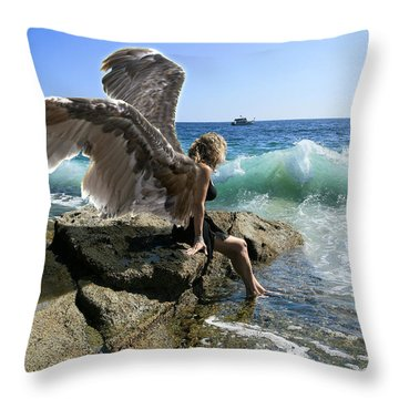 Angels- Yes I'm With You Throw Pillow