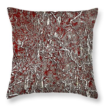 Anger Throw Pillow by Davina Washington
