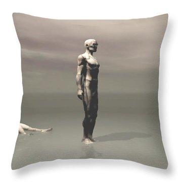 Throw Pillow featuring the digital art Anger by John Alexander